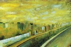 (G 273)     843    Paysage avec canal   -   Hilmar Schäfer