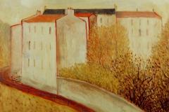 (G 285)    512     Maisons sur une colline  -   Hilmar Schäfer