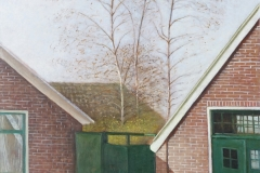 783       De drie berken bij de buurman (Groningen)    -    Hilmar Schäfer - zwl