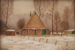 nummer onbekend - Boerderij in de sneeuw - Hilmar Schäfer - zhl