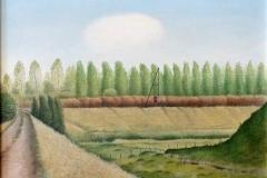 2033        Landschap met witte wolk   -    Hilmar Schäfer - zhl