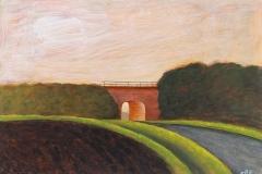 2061      Landschap met spoordijk en viadukt   -   Hilmar Schäfer - zp