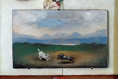 2023        Schilderij met Engel en Veertje   -   Hilmar Schäfer -  zhl