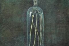 3054        Stilleven Madeliefjes in groene fles   -   Hilmar Schäfer - zl