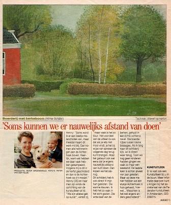 Artikel uit de Margriet over Schilderij 908 van Hilmar Schäfer uit 1987