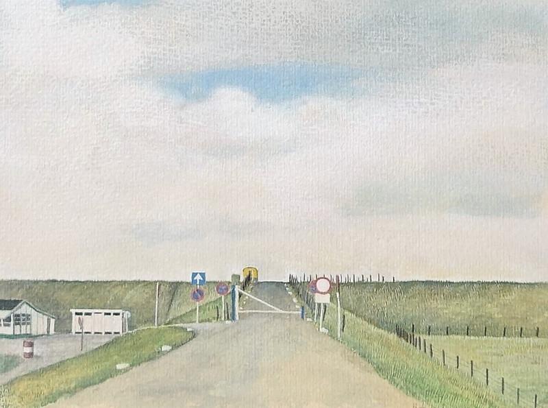 Schilderij van Dijk bij 's Gravenzande gemaakt door Hilmar Schäfer