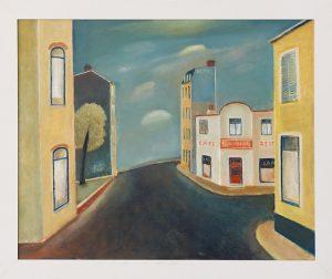 Schilderij van Hilmar Schäfer 243 Rue in Frankrijk van olieverf met passe partout