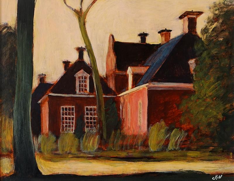 Schilderij van Borg Welgelegen te Sappemeer (Groningen) van Hilmar Schäfer