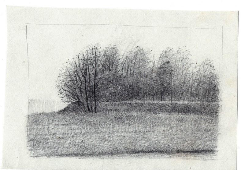 Schets van Bossage getekend door Hilmar Schäfer