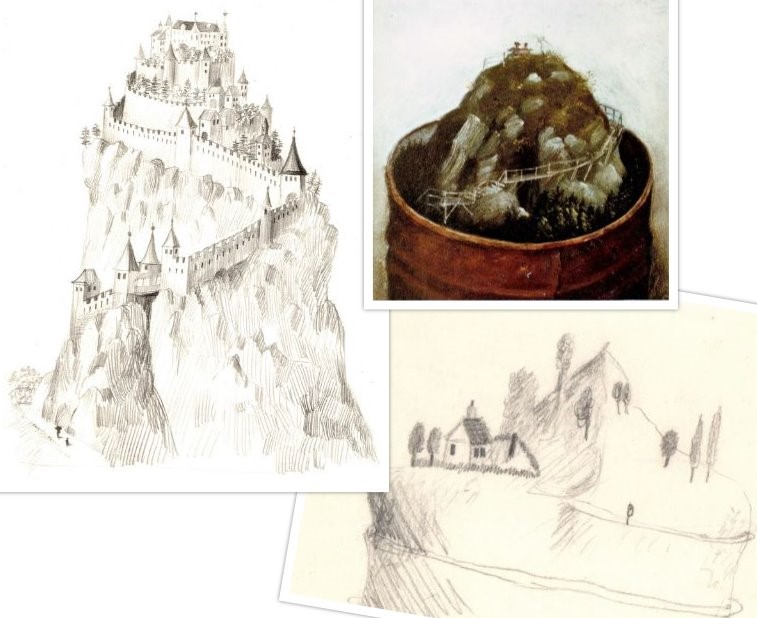 Schets van Het Mooie Uitzicht voor Spielerei 62 van Hilmar Schäfer