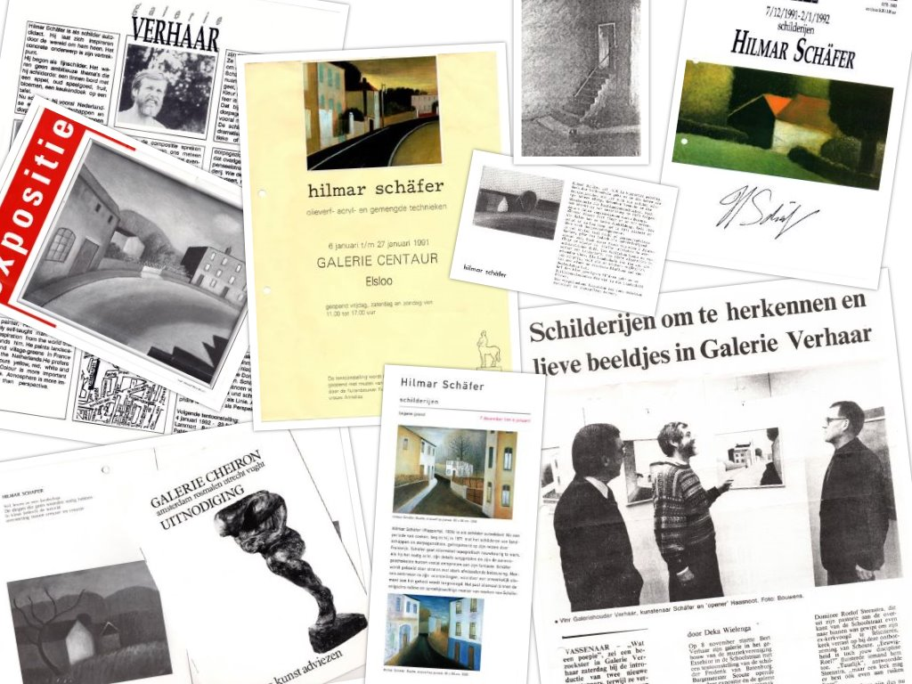 Flyers en uitnodigingen van exposities van Hilmar Schäfer