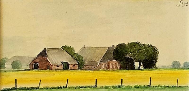 3000 Boerderij bij Gieterveen (Groningen) van Hilmar Schäfer zonder passe partout en zonder (wissel)lijst