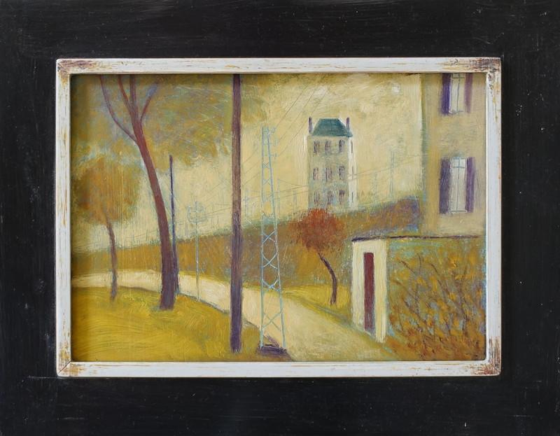 3064 La Route (de weg) van Hilmar Schäfer met houten lijst