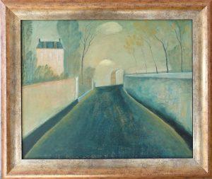 Schilderij 869 Ruelle van Hilmar Schäfer, in Frankrijk van een verlaten straat